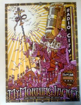My Morning Jacket 08 radiocity (watercolor paper)