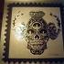 skull stamps 3 foil