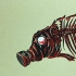Gas Mask Fish - Black Back, Face Left, Red Eye