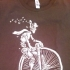 T-shirt bike brown