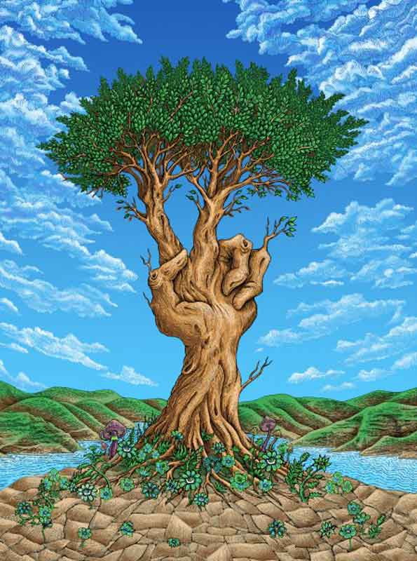 "Peace Tree, Art Print"" — A Silk screen Print by EMEK at Goodfoot ..."