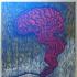 Smoking Brain, Anodized Metal