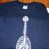 T-shirt bone guitar