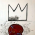 King Alphonso (inspired by Jean Michel Basquiat)