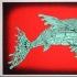 fish robot red glow