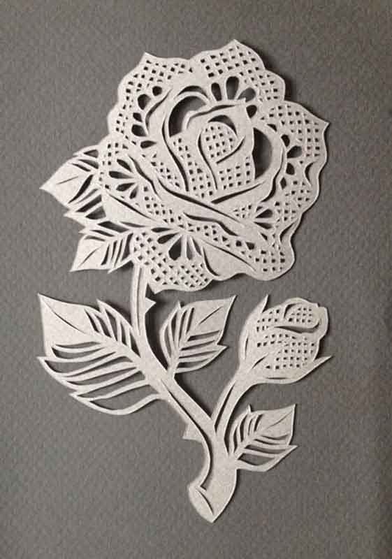 Wall Design Paper Cutting : Flower a paper cut out by laura graham at goodfoot