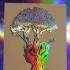 peace tree foil tan