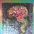 Smoking Brain, Mini, Foil, Red/Yellow