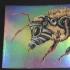 Bee, Small, Foil, Ochre