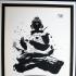 Buddha, Small, Gold Border