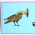 Music Birds, Small, Light Blue