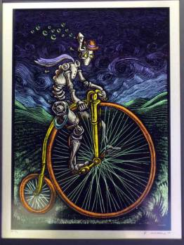 Built to Spill, Cybercycle Art Print on Metal